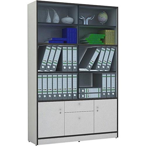 Tủ hồ sơ gồm nhiều ngăn để tài liệu bên trên